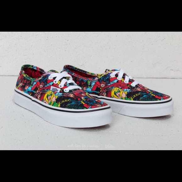 f4e0e720c95 Vans Toddler girls Marvel Authentic elastic shoes